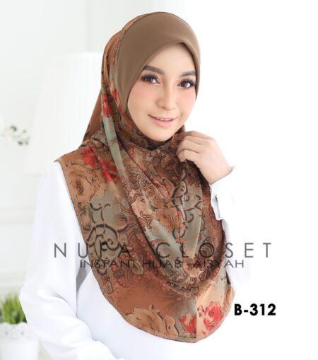 Tudung Labuh Muslimah Berdagu Aisyah Exclusive XL - B-312