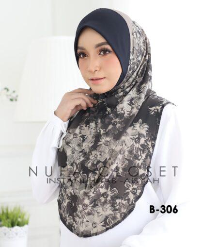 Tudung Labuh Muslimah Berdagu Aisyah Exclusive XL - B-306