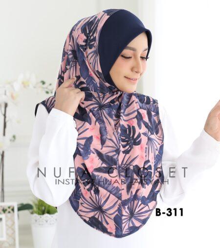 Tudung Labuh Muslimah Berdagu Aisyah Exclusive XL - A1-311