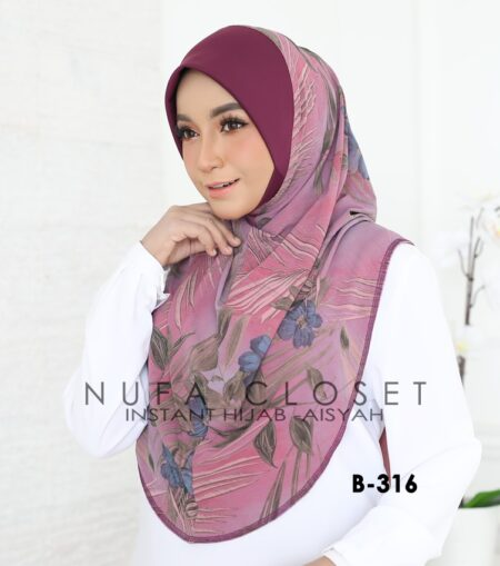 Tudung Labuh Muslimah Berdagu Aisyah Exclusive XL - B-316