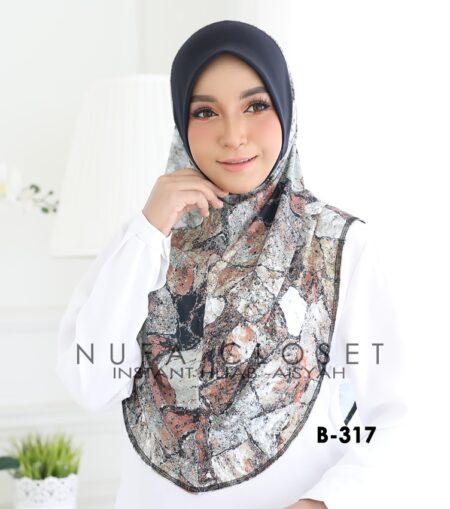 Tudung Labuh Muslimah Berdagu Aisyah Exclusive XL - A1-317