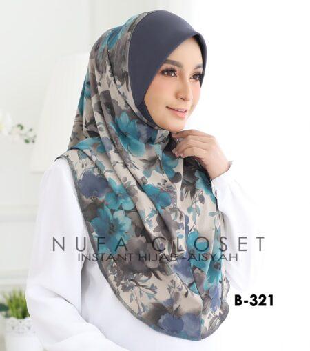 Tudung Labuh Muslimah Berdagu Aisyah Exclusive XL - A1-321