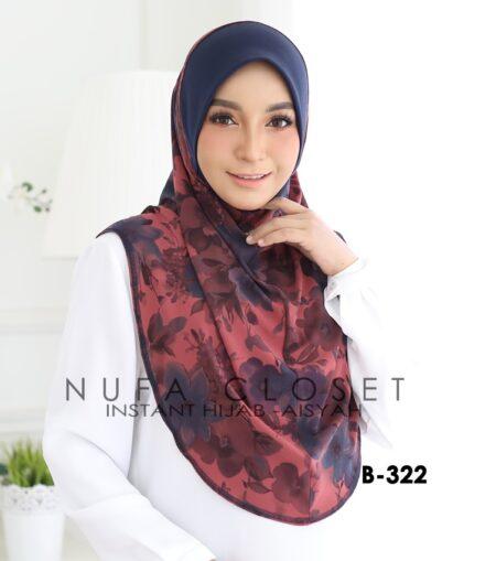 Tudung Labuh Muslimah Berdagu Aisyah Exclusive XL - A1-322