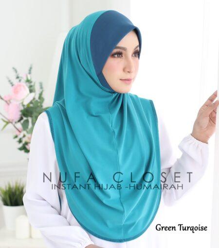 Tudung Instant XL Zinnirah Exclusive - Green Turqoise