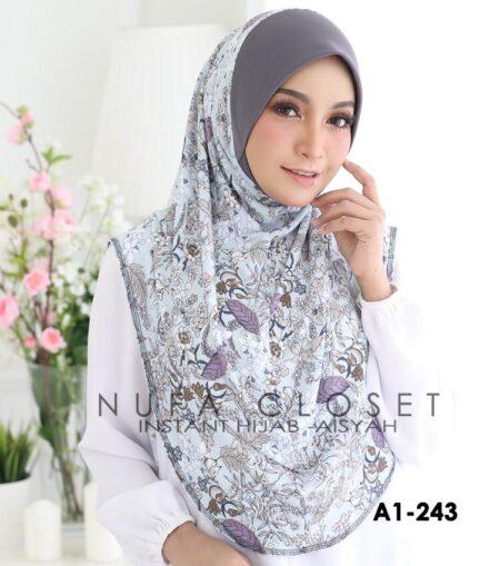 Tudung Labuh Muslimah Berdagu Aisyah Exclusive XL - A-243