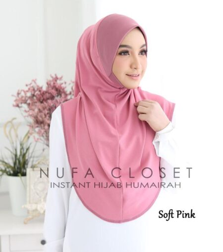 Instant Humairah Exclusive - Soft Pink